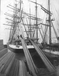 sailing ships,band saw mills, vintage logging photos,old photographs