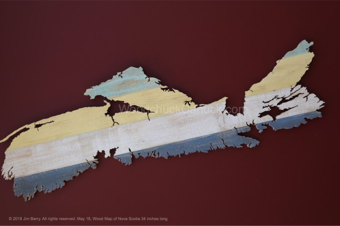 scrollsaw,wooden maps, NS, Nova Scotia