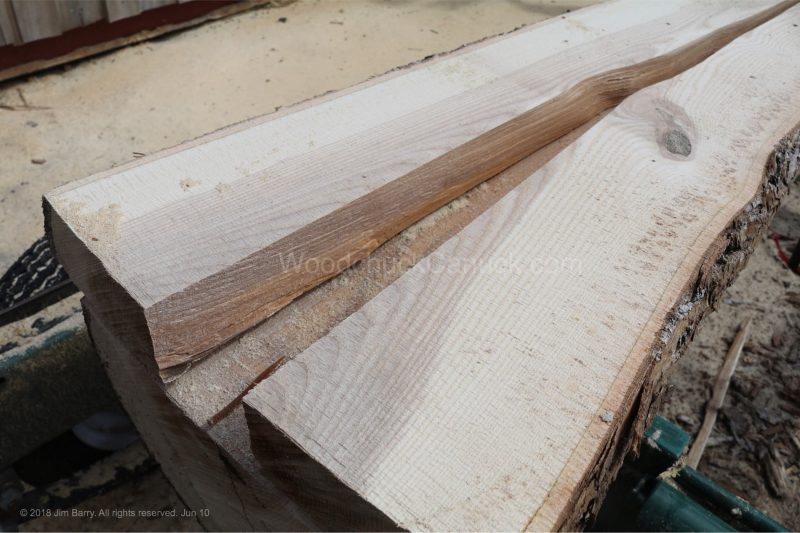 saw mlling, ash logs, Nova Scotia, stress, reaction wood.
