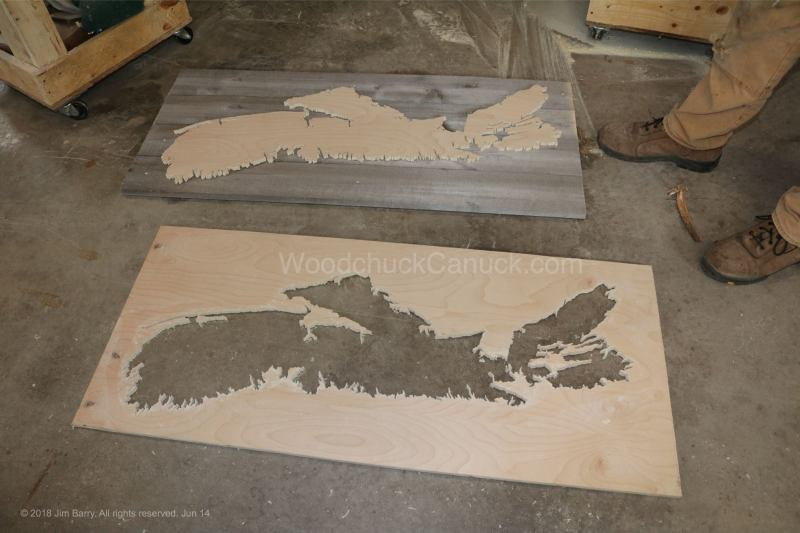 wood map,ns map,backboard,scroll saw