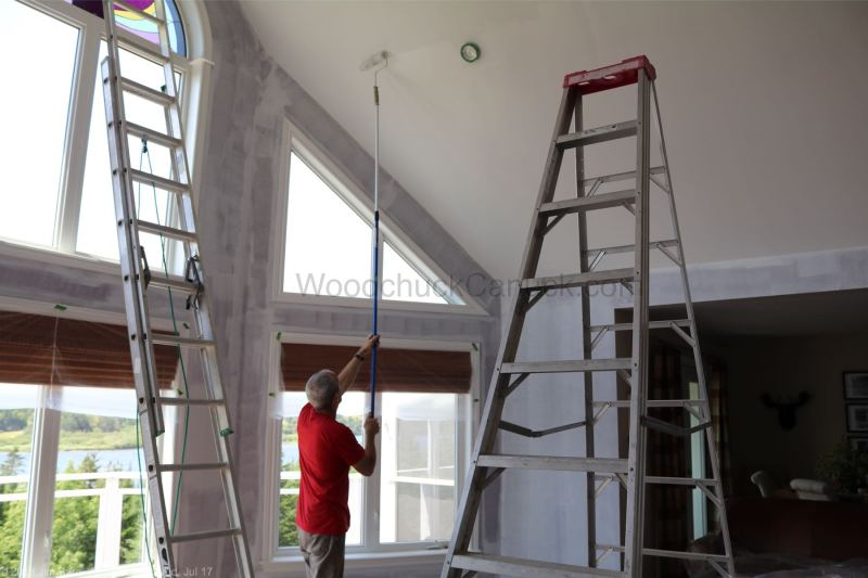 painting the living room