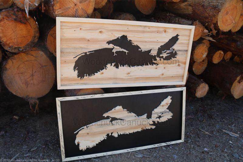 wood maps, Nova Scotia,hand made,Antigonish