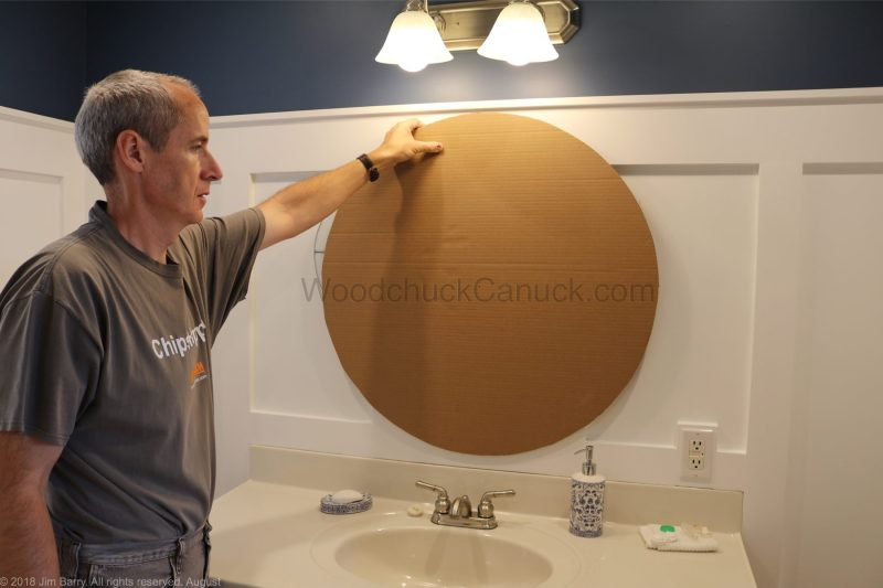 template for round mirror frame