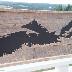 wood maps,woodworking,Antigonish,Nova Scotia,Loch Katrine