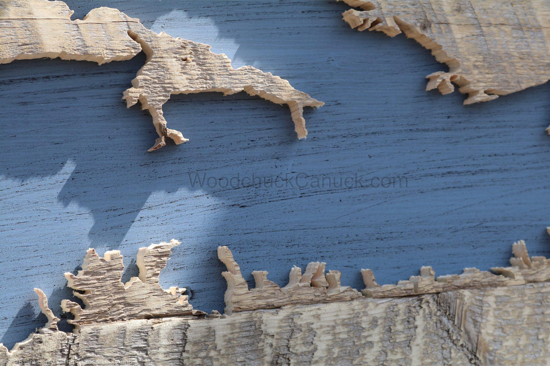 Wood Map of Nova Scotia #64 - WoodchuckCanuck.com