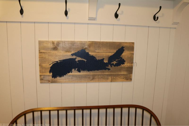 "Buy our Nova Scotia wood map 32x15"""