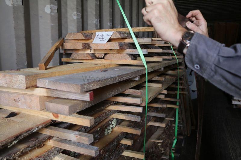 live edge pine slabs