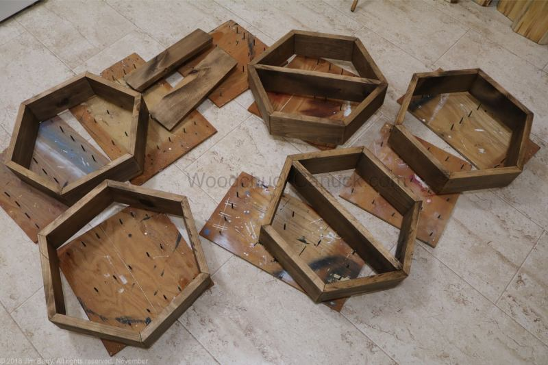 Hexagon shelves,diy,honeycomb shelves