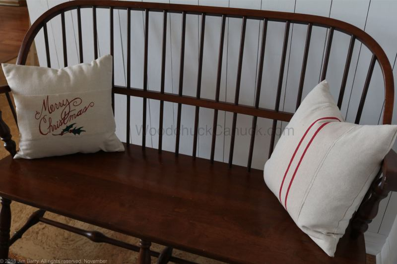 DIY Christmas pillow covers