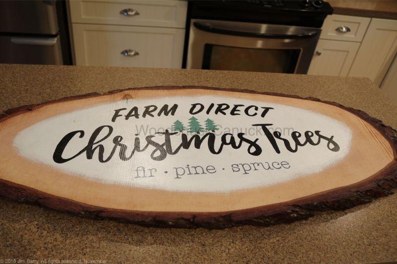 diy,wood slice,christmas sign