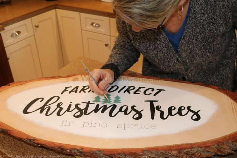 Christmas trees, wood word signs, hand crafted, Nova Scotia, Anitgonish County, Guysborough County