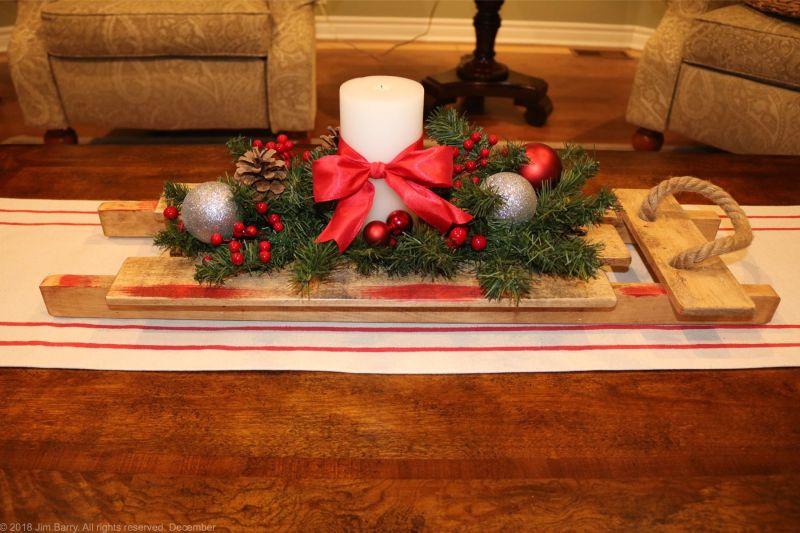 diy,vintage Christmas sled,pallets