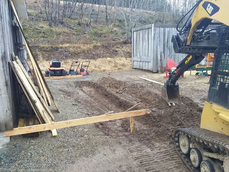 skidsteer attachments, backhoe, digging, Antigonish County, Nova Scotia, Guysborough County
