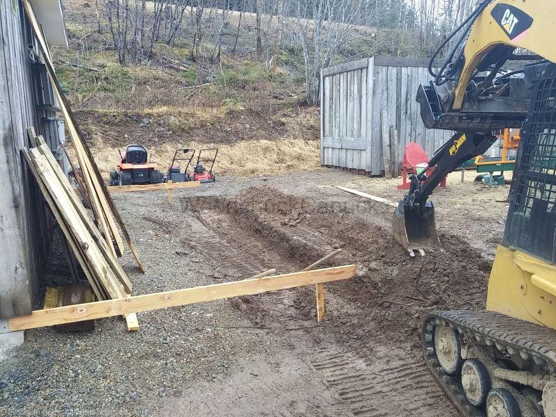 skidsteer attachments, backhoe, digging, Antigonish County, Nova Scotia, Guysborough County