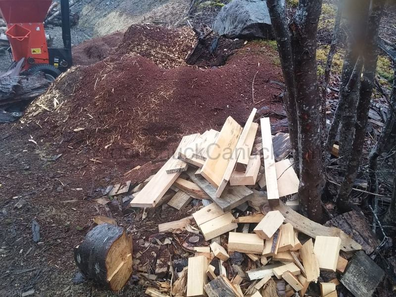 landscape mulch, kindling, firewood, sawmilling lumber, bi product, waste management, reducing, recycling, reusing, Loch katrine, Antiogonish County, Guysborough County, Nova Scotia