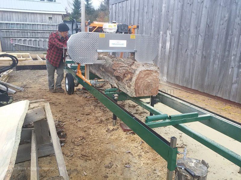Sawmilling in Antigonish County Nova Scotia Canada