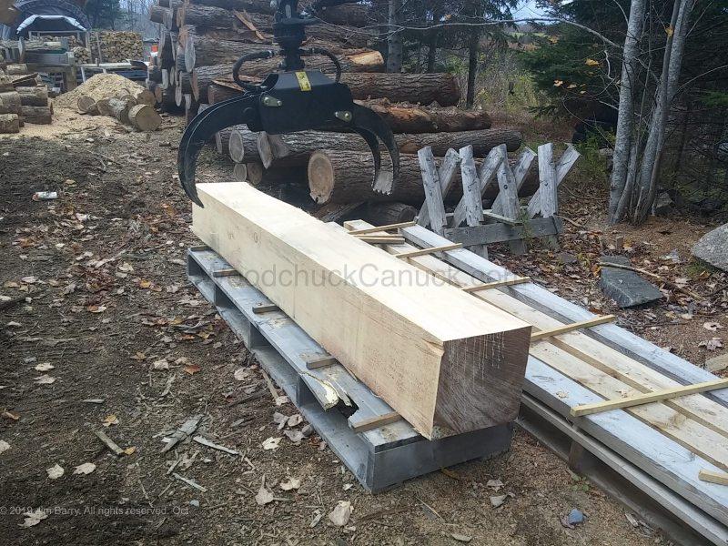 Sawmilling in northern Nova Scotia, Antigonish County.