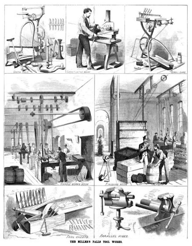 Vintage logging photo, illustrations.
