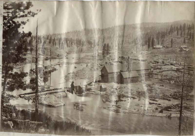 1880 Richardson's Mill, Placer County. Vintage logging.