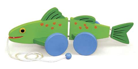 Wiggle Fish Pull Toys Woodworking Plan