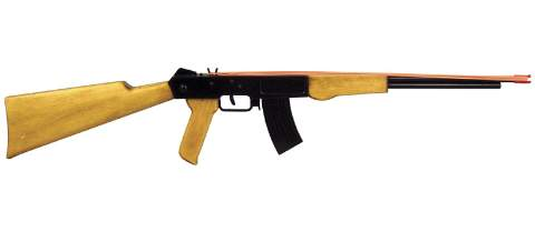 Rubber Band AK-47 Machine Gun Woodworking Plan