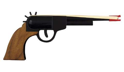 Rubber Band Revolver Gun Woodworking Plan