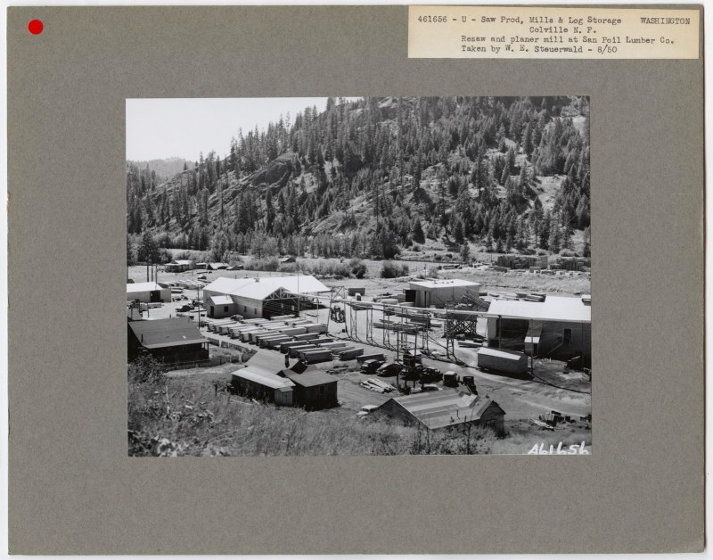 1950 San Poil Lumber Co., Colville, Washington.