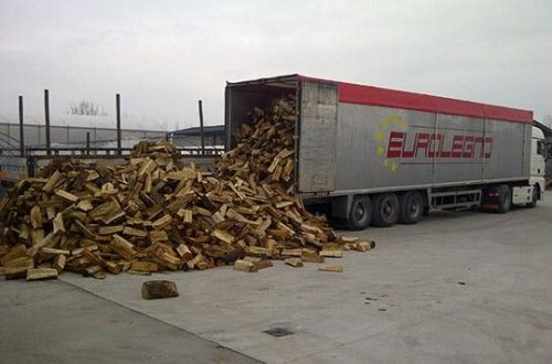 Firewood delivery somewhere in Europe.