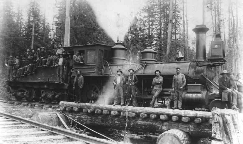 """1899 Locomotive """"Two Spot"""" at Royal City Planing Mills"""