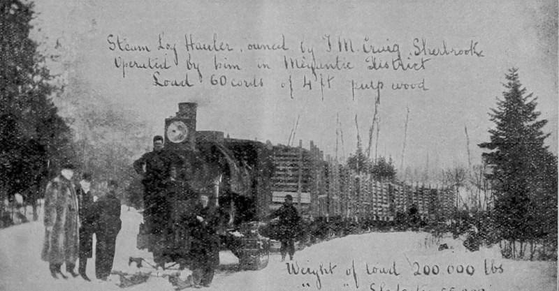 1908 JM Craig hauling 4ft cord wood