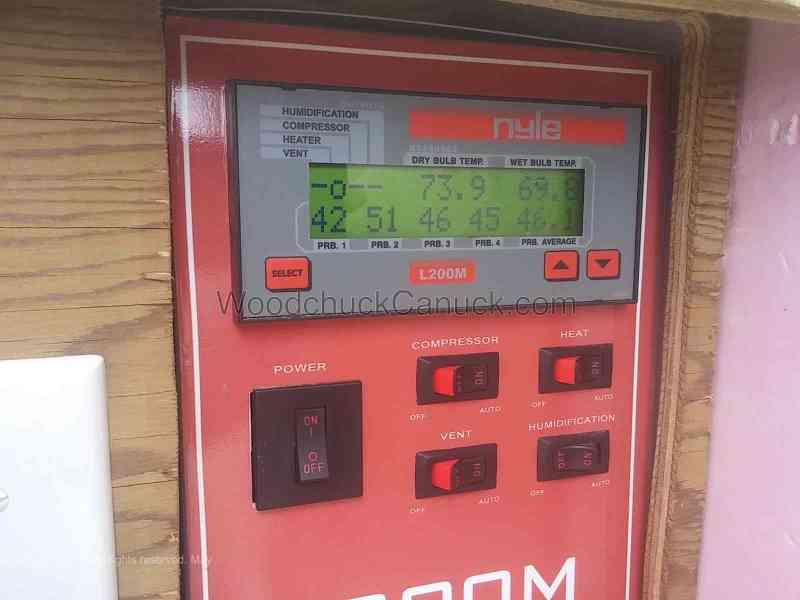 Start of cycle kiln controller stats.