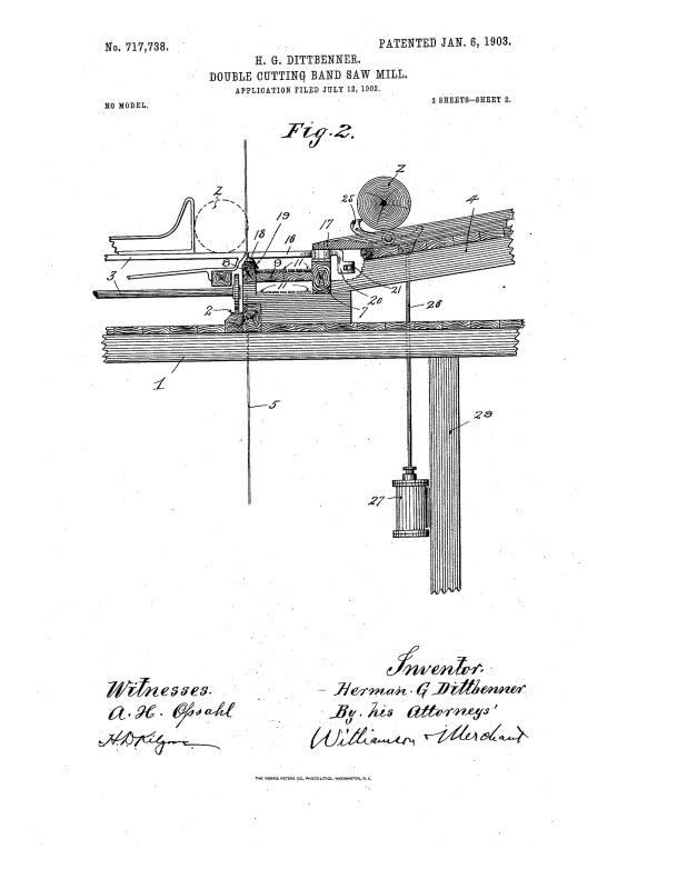 1902 A patent illustration for a bridging device.