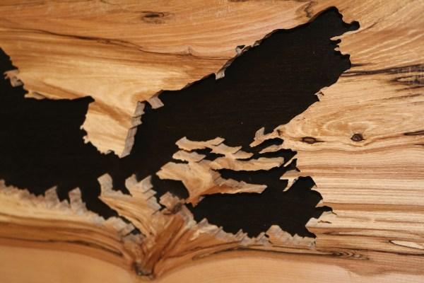 Wood map of Nova Scotia