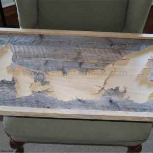 Wood map of PEI unfinished