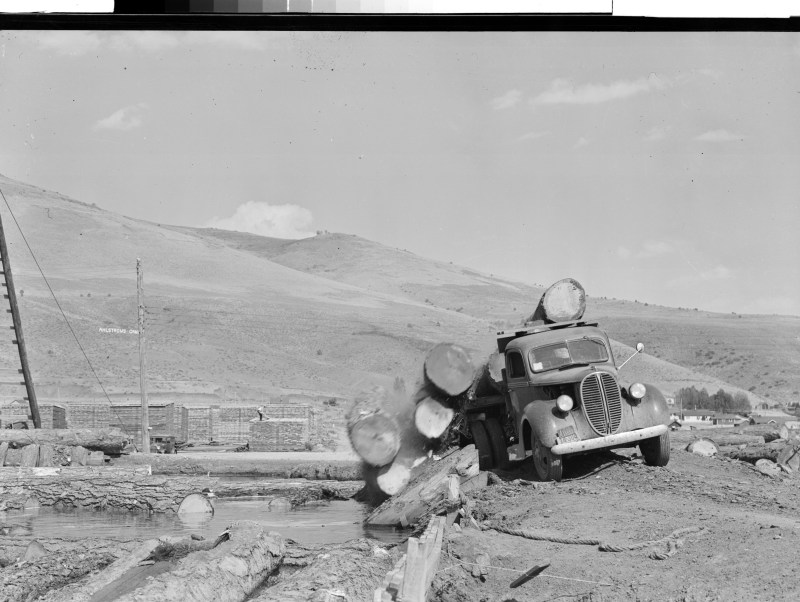 1947 Logging Truck.