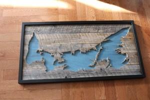 Wood map Prince Edward Island