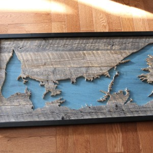 Wood map Prince Edward Island