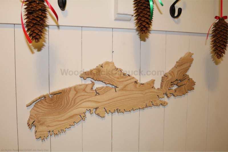 Wood Map Nova Scotia No. 92 (SOLD)