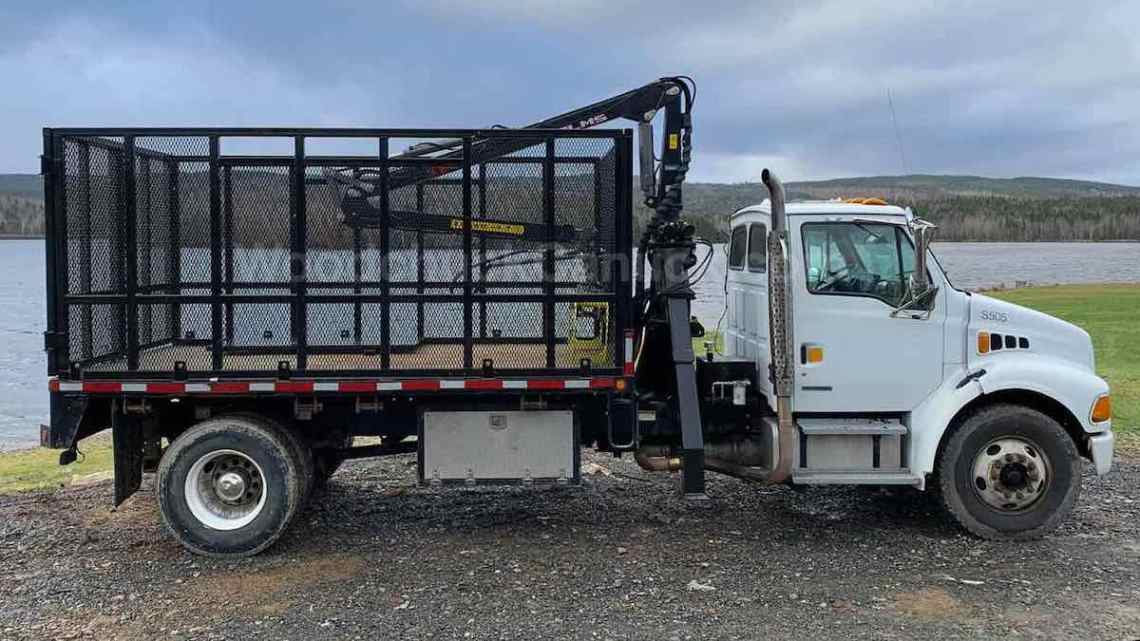 2008 Sterling single axle firewood truck.