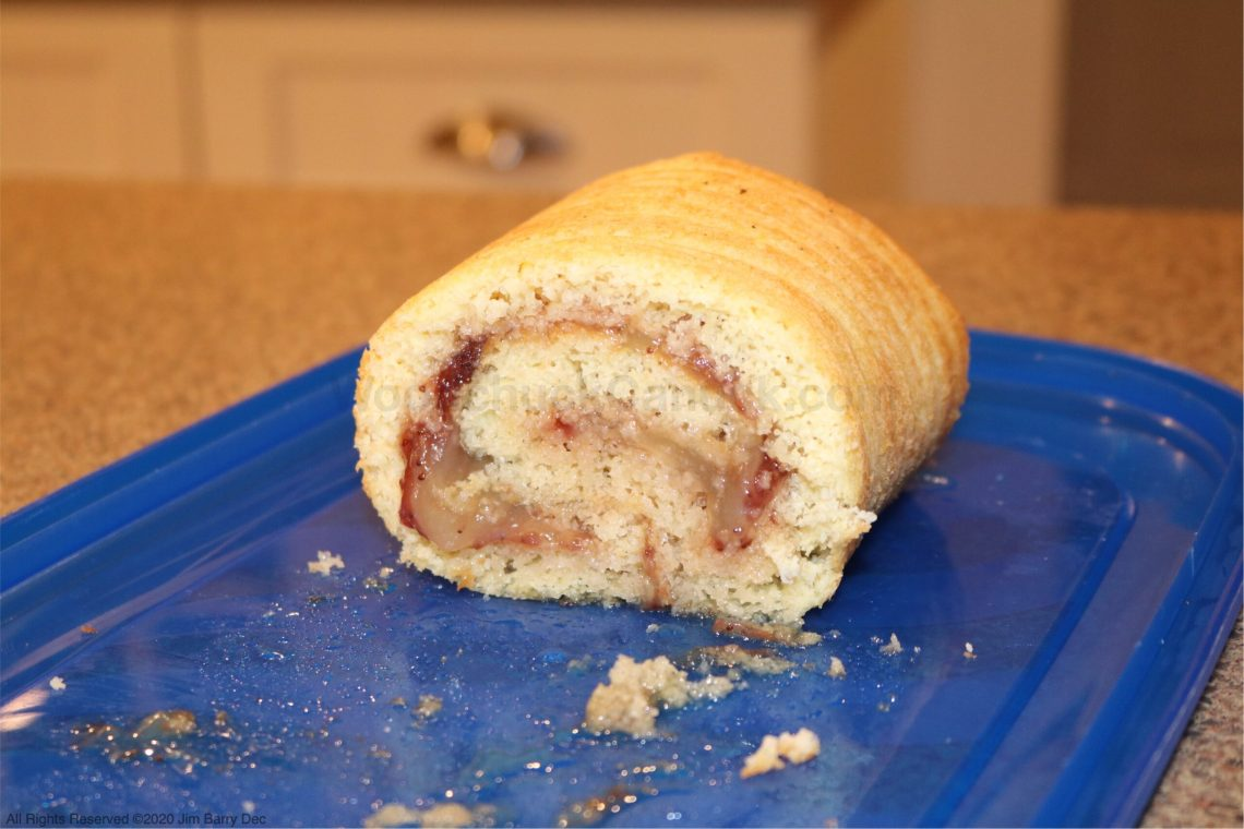 Strawberry vanilla pudding jelly roll.