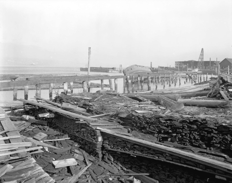 1925 Mill ruins in Coal Harbour
