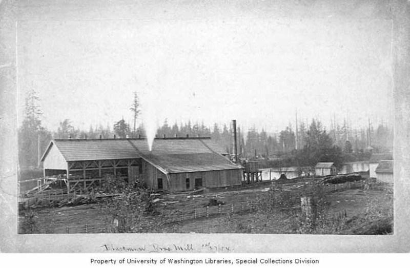1884 Blackman Brothers sawmill near Snohomish, WA.
