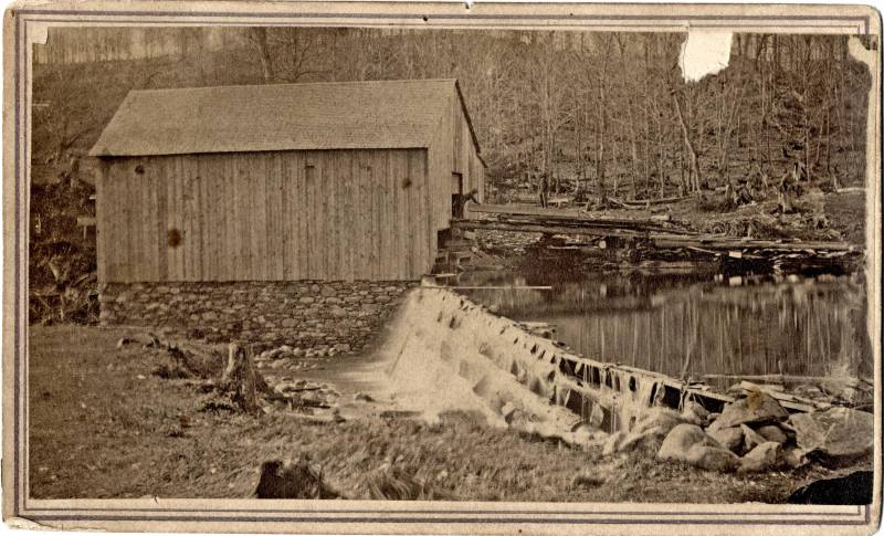 An old water driven saw mill.