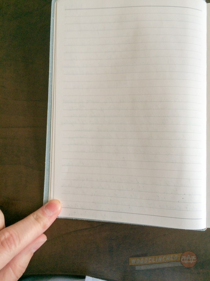 The Gallery Leather Oporto journal has smooth, creamy white paper.