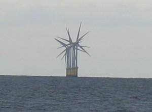 Wind turbines in Liverpool Bay