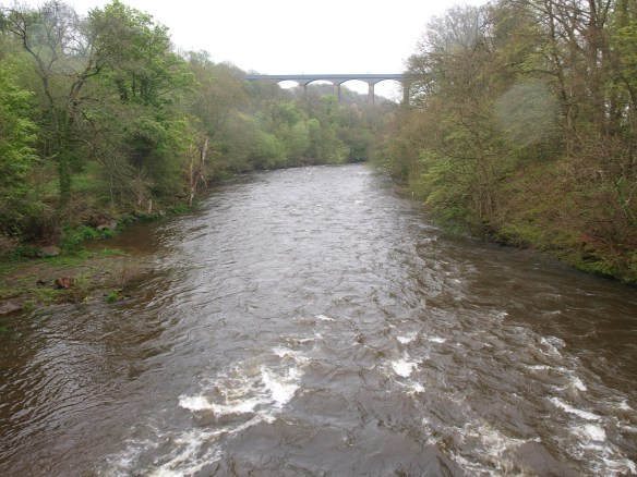 Pontcysyllte Aqueduct above the River Dee