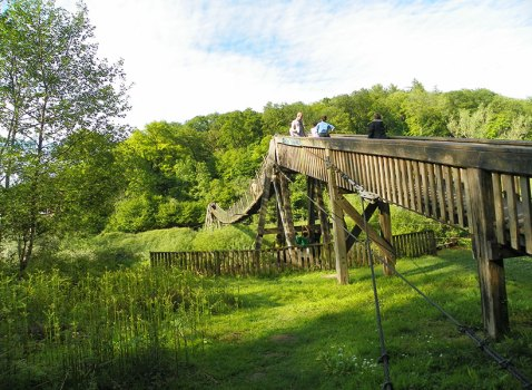 Biblins bridge at Biblins campsite