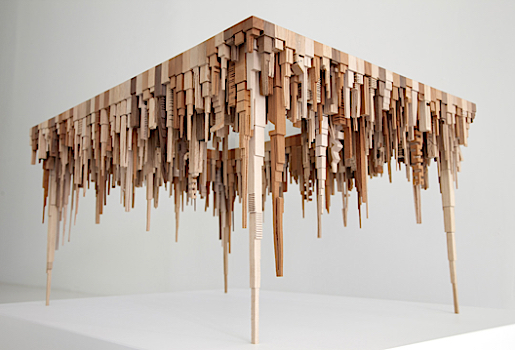 Wood Art Table