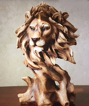 Wood Sculpting Lion
