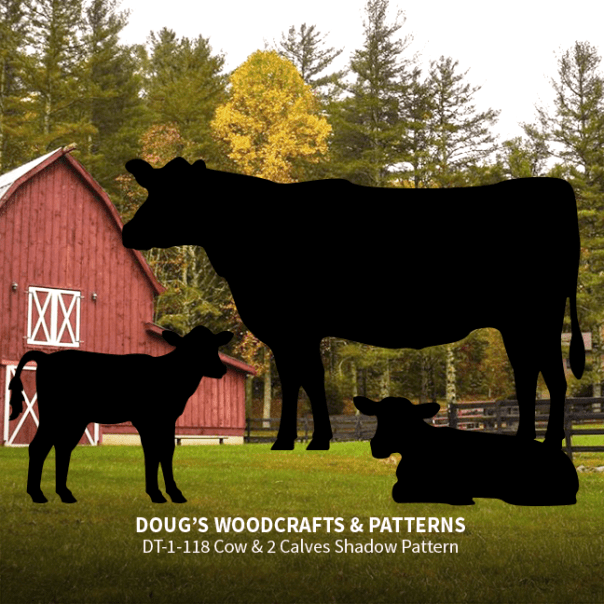 DT-118 Standing Cow & 2 Calves Shadow Pattern